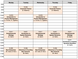class schedule2